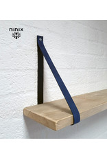 100% original 4cm breed Leren planken dragers 2 stuks blauw