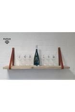 100% original 4cm breed Leren planken dragers 2 stuks cognac