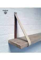 100% original 4cm breed Leren planken dragers 2 stuks creme