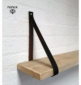100% original 4cm Breite Regalablage 2stuck aus Leder dunkel brown