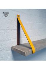 100% original 4cm breed Leren planken dragers 2 stuks geel