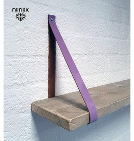 100% original 4cm Breite Regalablage 2stuck aus Leder Lavendel