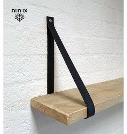100% original 4cm width leather shelf support 2 pieces navy