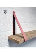 100% original leather shelf support old rose