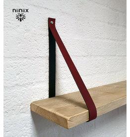 100% original 4cm Breite Regalablage 2stuck aus Leder plum