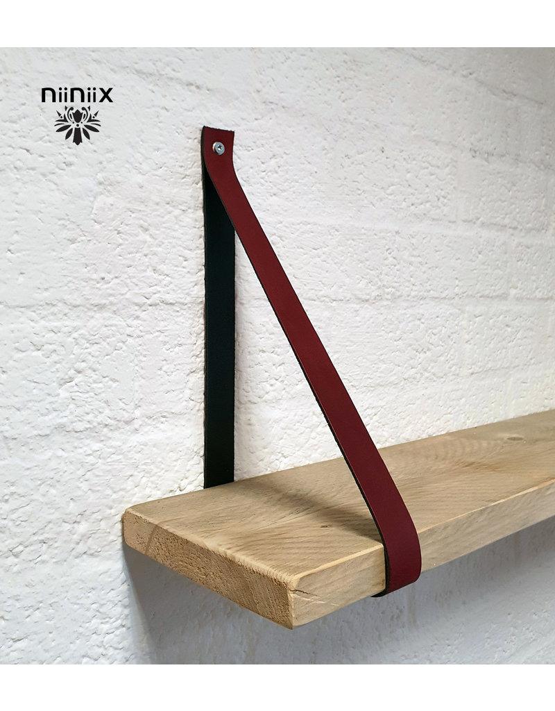 100% original 4cm breed Leren planken dragers 2 stuks plum