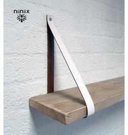 100% original 4cm Breite Regalablage 2stuck aus Leder weiss