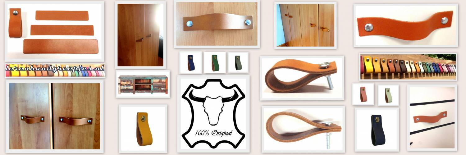 leather hand handle end