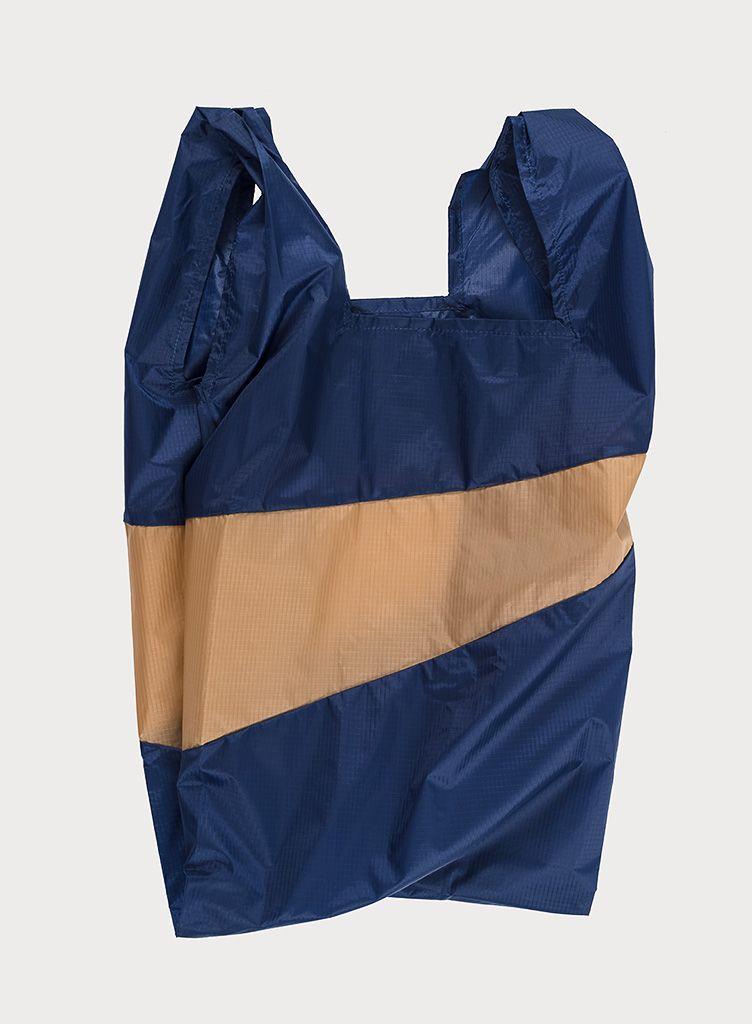 SUSAN BIJL Shoppingbag Navy & Camel
