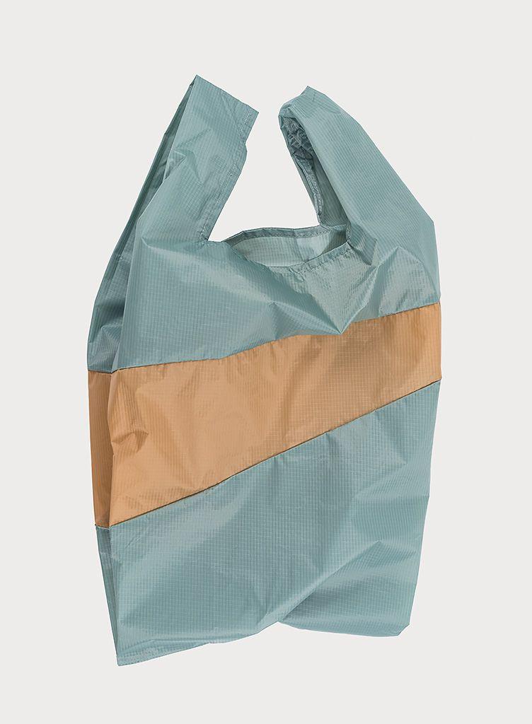 SUSAN BIJL Shoppingbag Grey & Camel