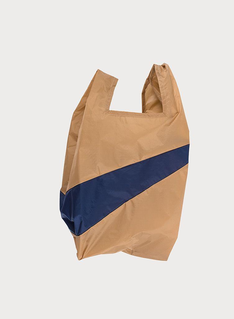 SUSAN BIJL Shopping Bag Camel & Navy