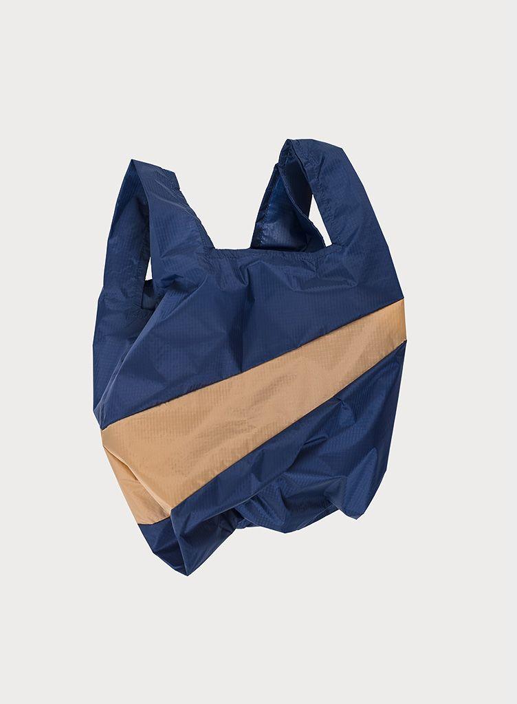 SUSAN BIJL Shopping Bag Navy & Camel