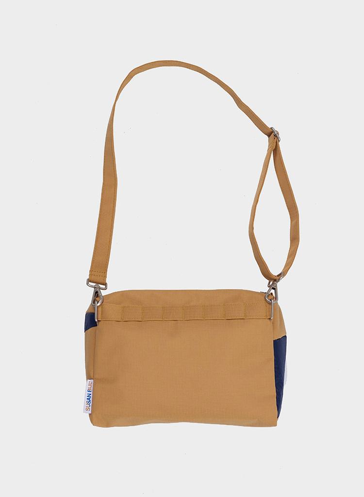SUSAN BIJL Bum Bag Camel & Navy