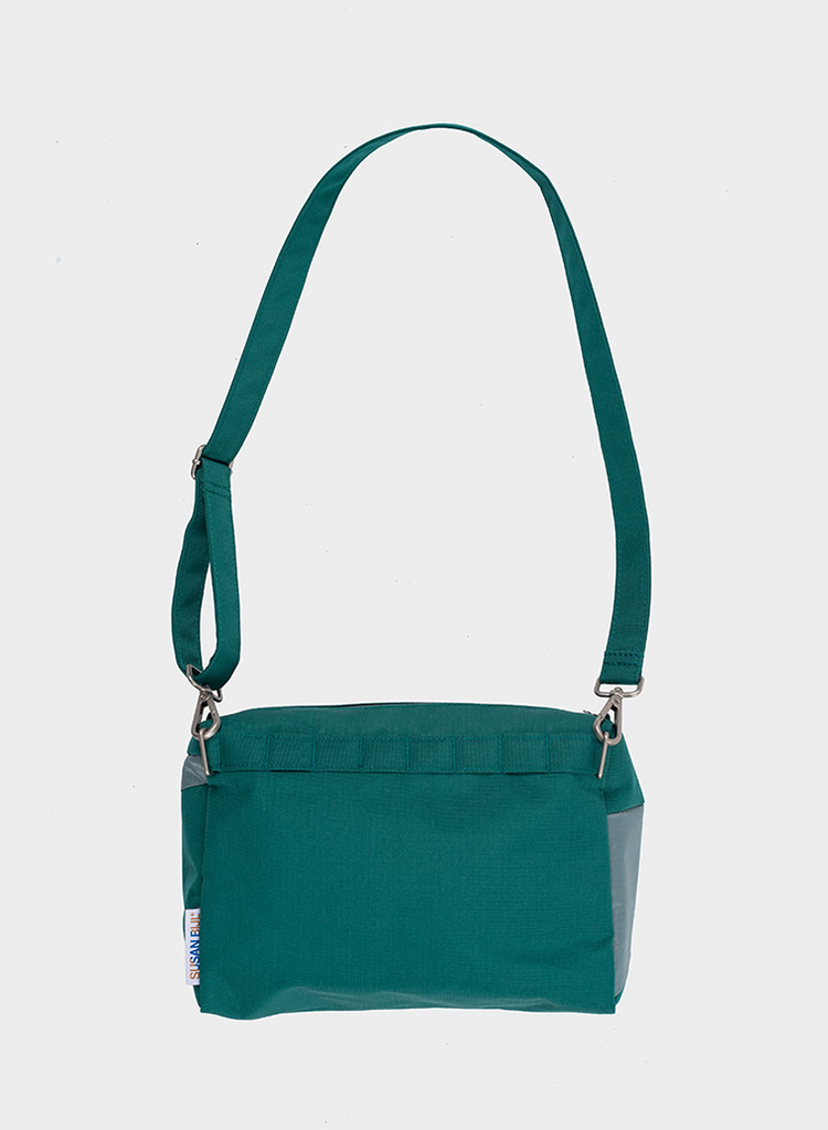 SUSAN BIJL Bum Bag Pine & Grey