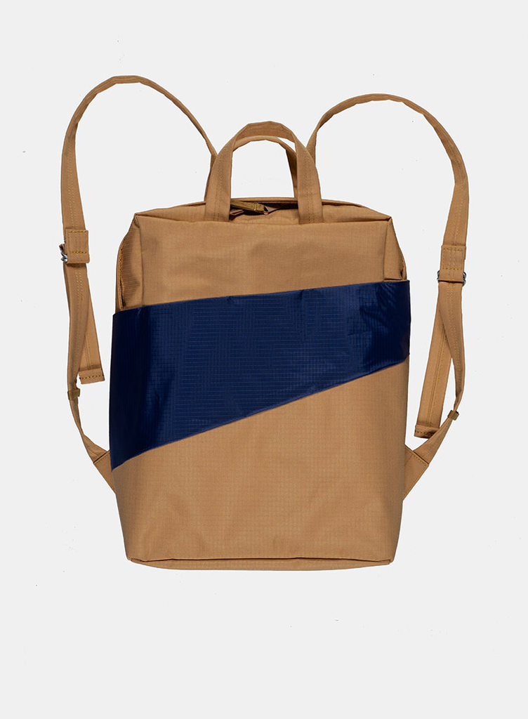 SUSAN BIJL Backpack Camel & Navy