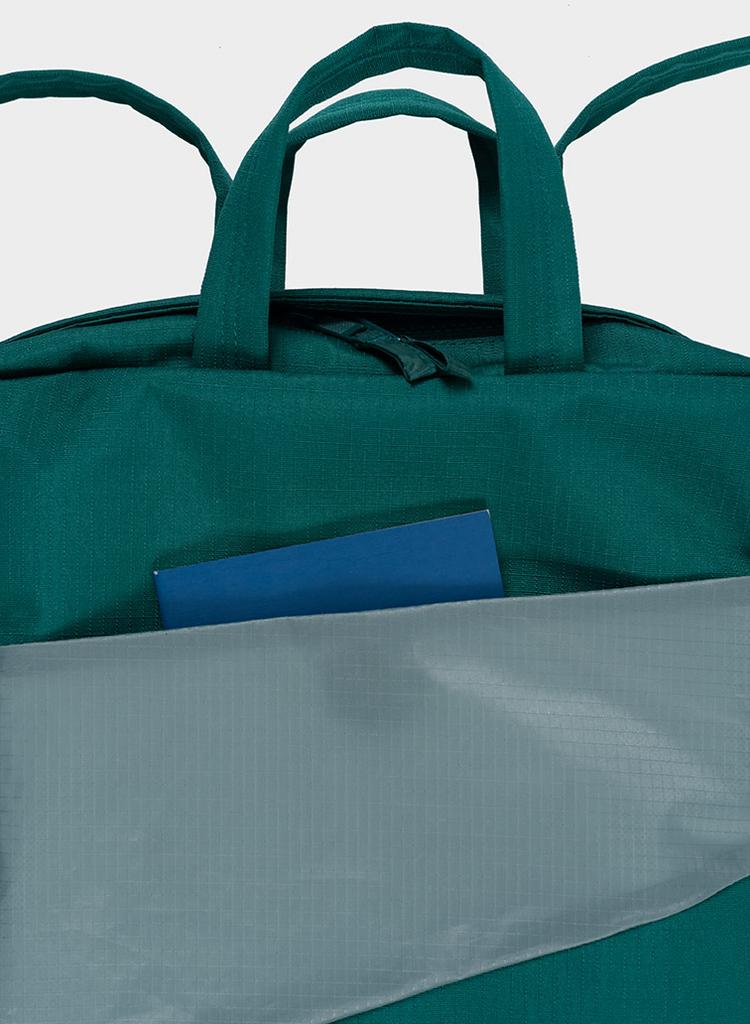 SUSAN BIJL Backpack Pine & Grey