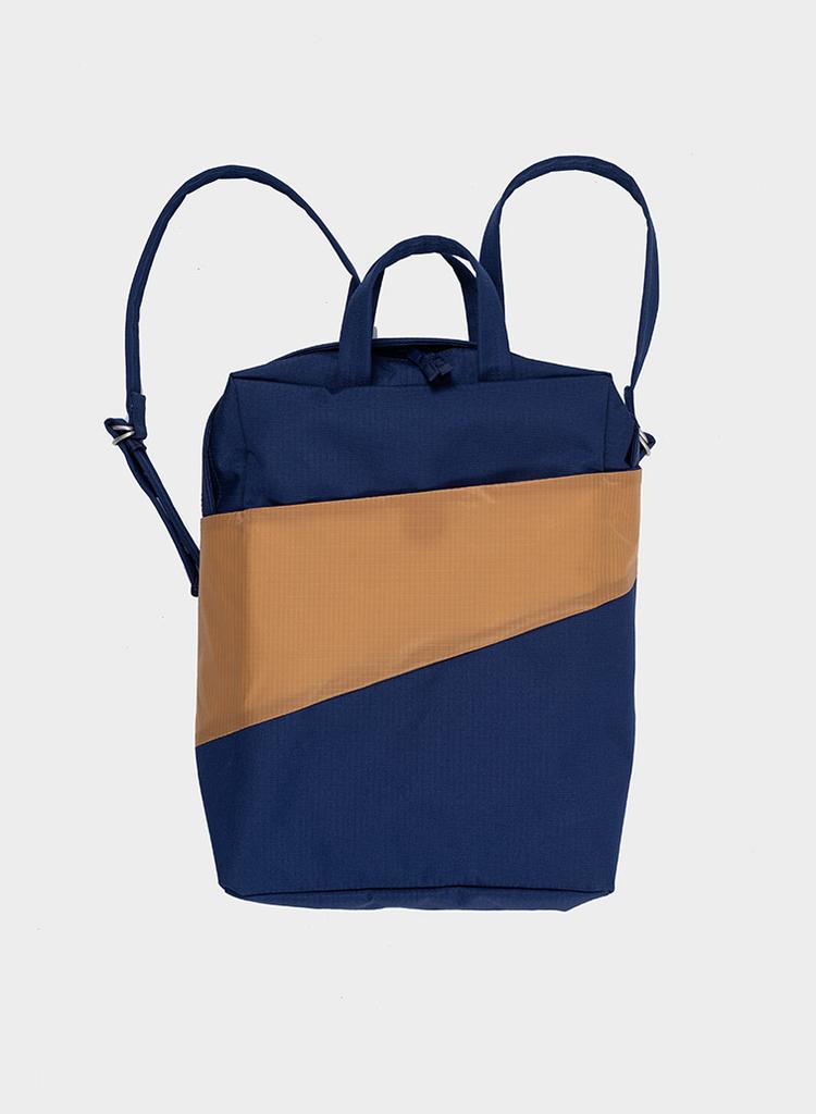 SUSAN BIJL Backpack Navy & Camel