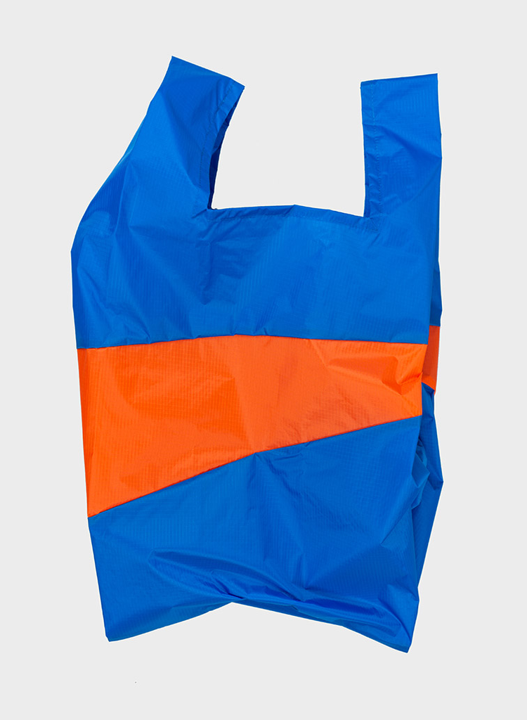 SUSAN BIJL Shopping Bag Blue & Oranda