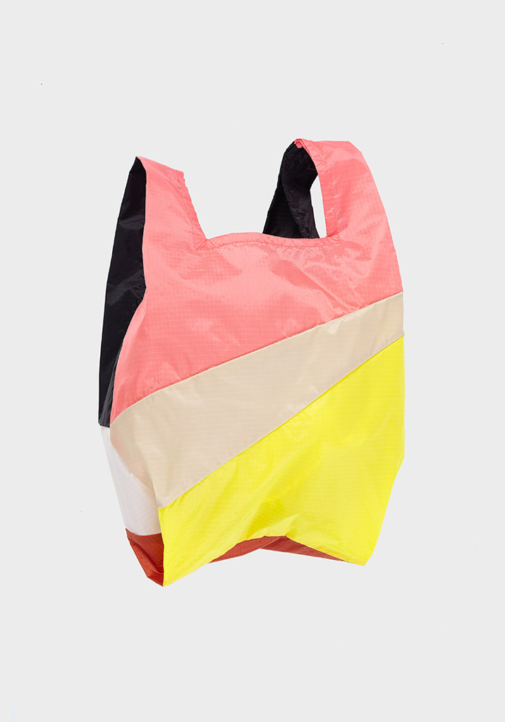 SUSAN BIJL Shopping Bag Floyd, Beige, Fluo Yellow, Black, White, Rust