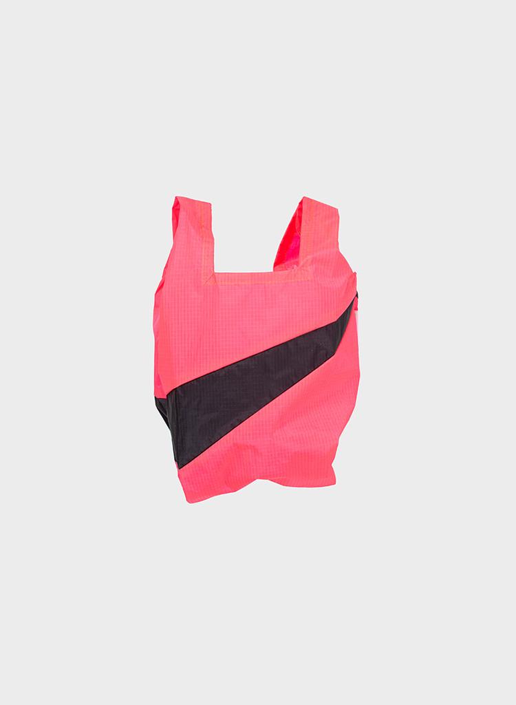 SUSAN BIJL Shopping Bag Fluo Pink & Black