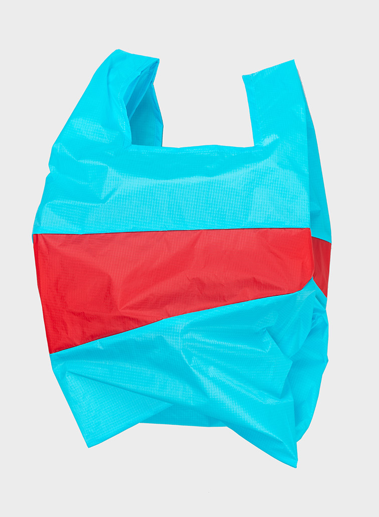 SUSAN BIJL Shopping Bag Keyblue & Redlight