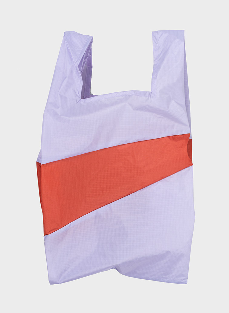 SUSAN BIJL Shopping Bag Lavender & Rust