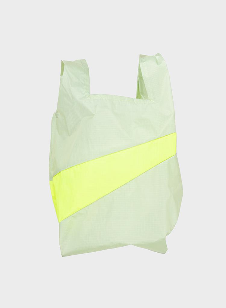 SUSAN BIJL Shopping Bag Pistachio & Fluo Yellow