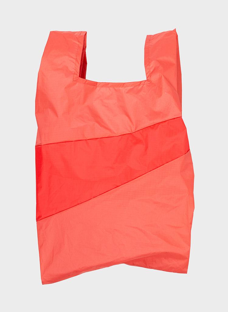 SUSAN BIJL Shopping Bag Salmon & Red Alert