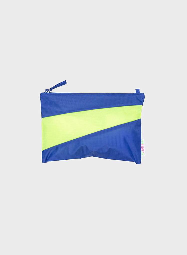 SUSAN BIJL Pouch Electric Blue & Fluo Yellow