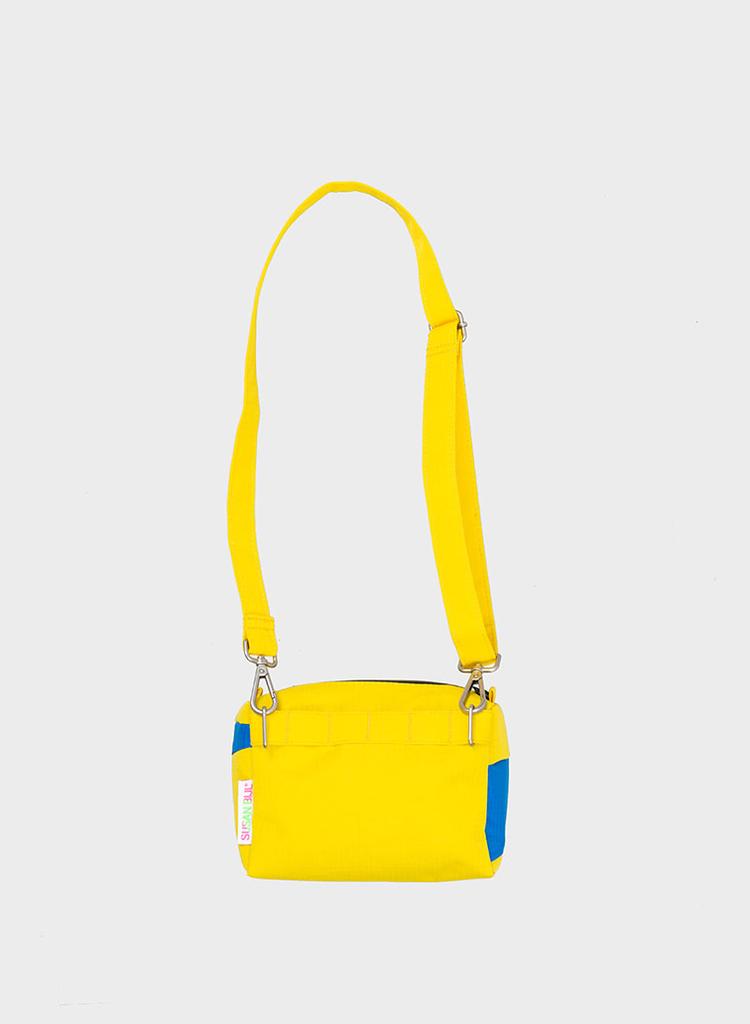 SUSAN BIJL Bum Bag TV Yellow & Blueback