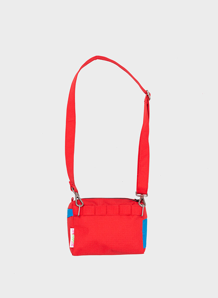 SUSAN BIJL Bum Bag Redlight & Sky Blue