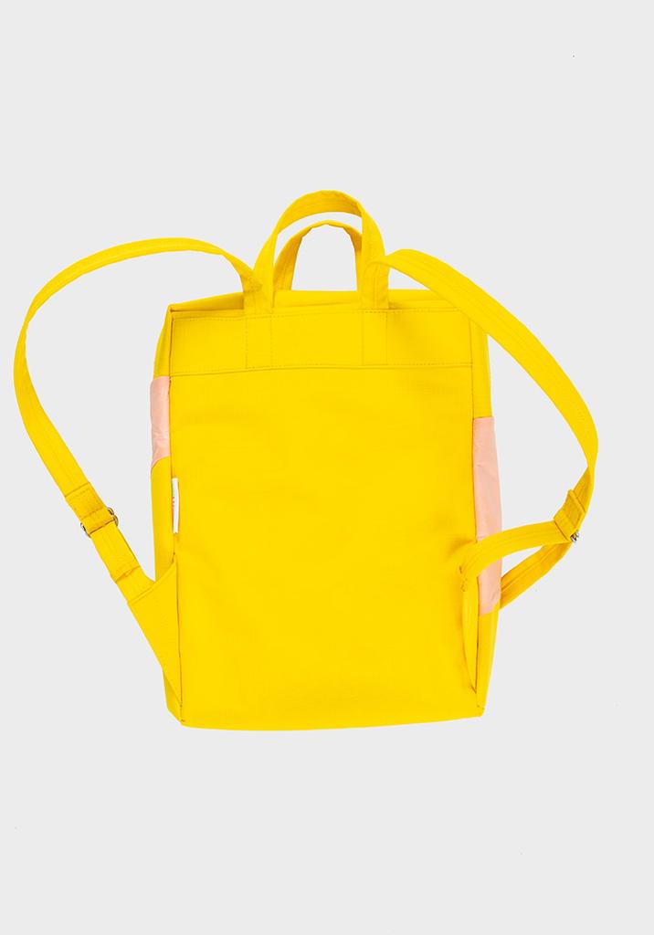 SUSAN BIJL Backpack TV Yellow & Powder