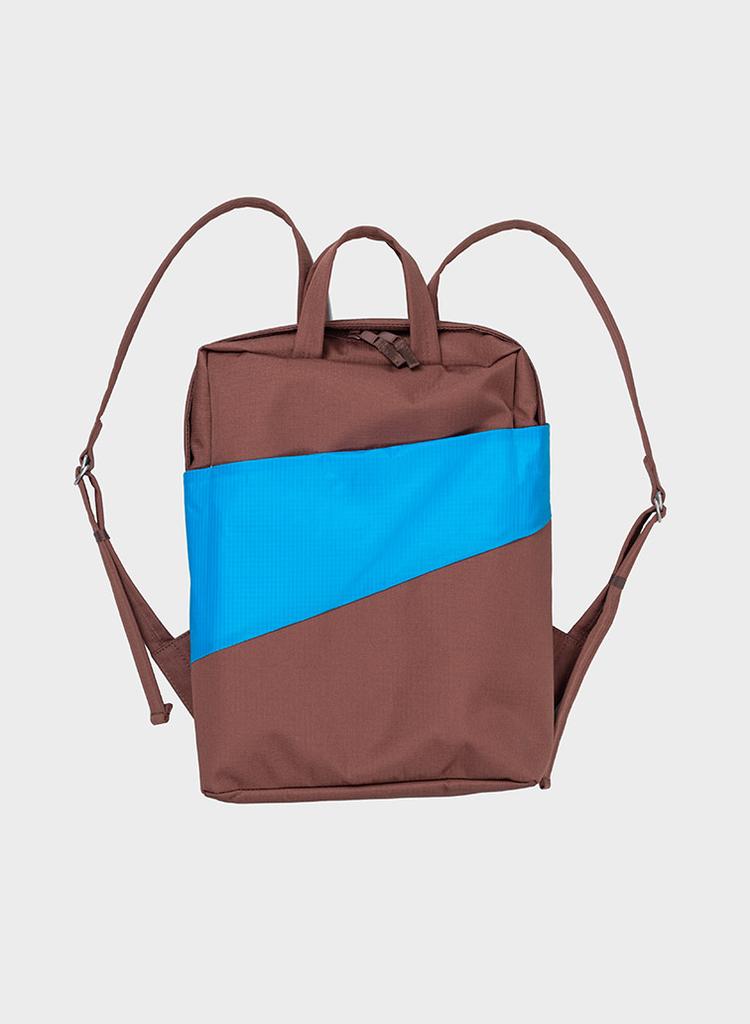 SUSAN BIJL Backpack Brown & Sky Blue