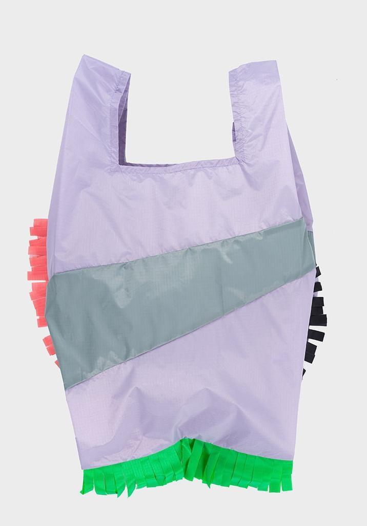 SUSAN BIJL Shopping Bag Fringe Party Grey