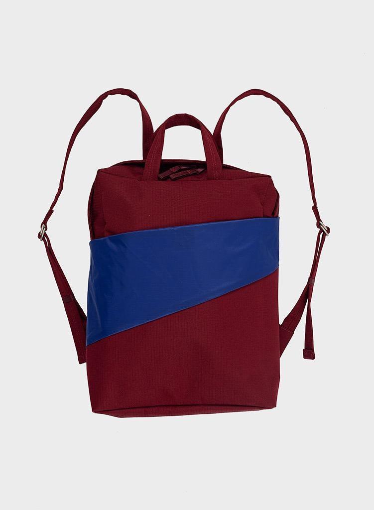 SUSAN BIJL Backpack Burgundy & Electric Blue