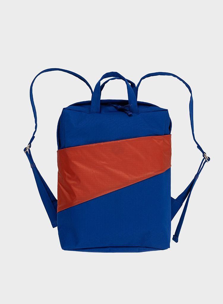 SUSAN BIJL Backpack Electric Blue & Rust