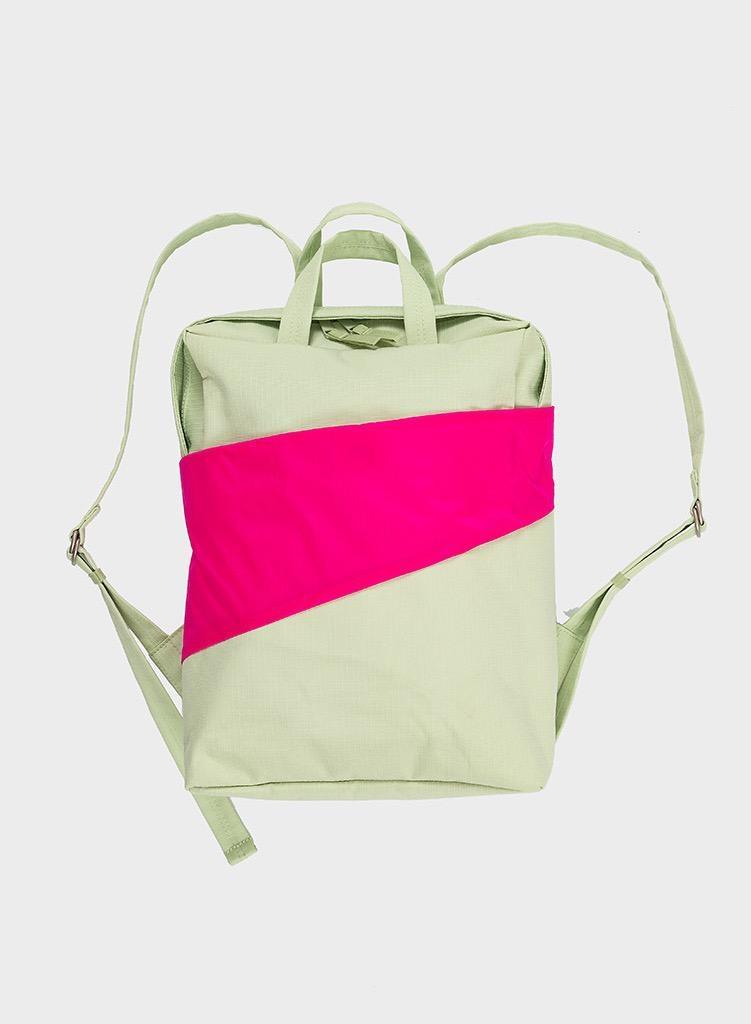 SUSAN BIJL Backpack Pistachio & Pretty Pink