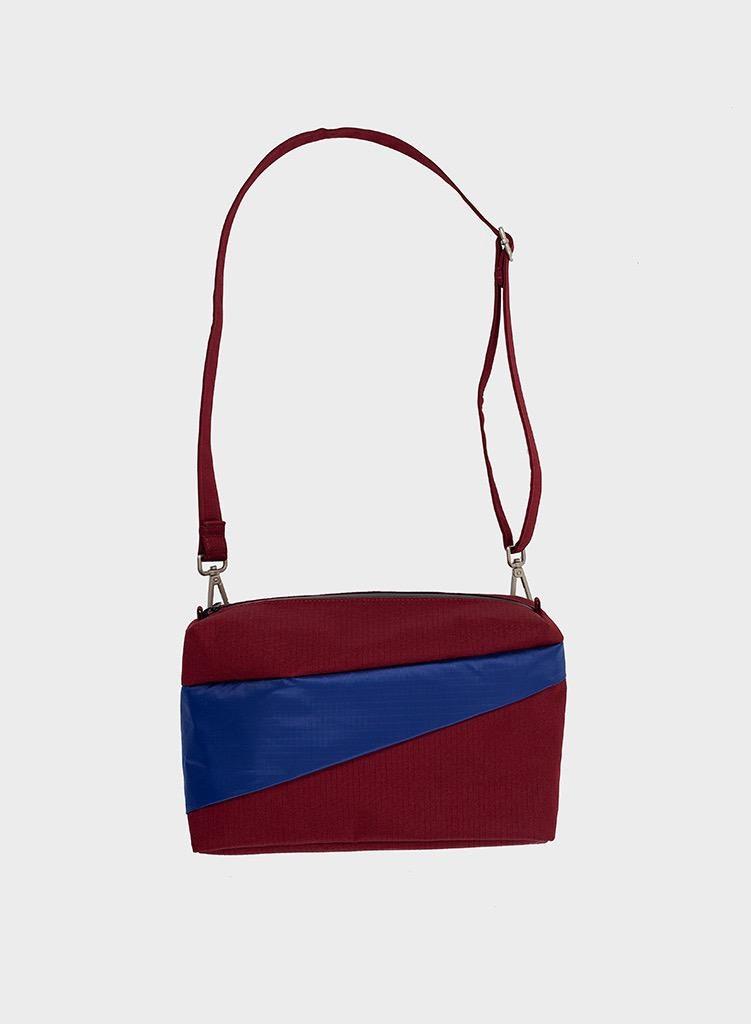 SUSAN BIJL Bum Bag Burgundy & Electric Blue