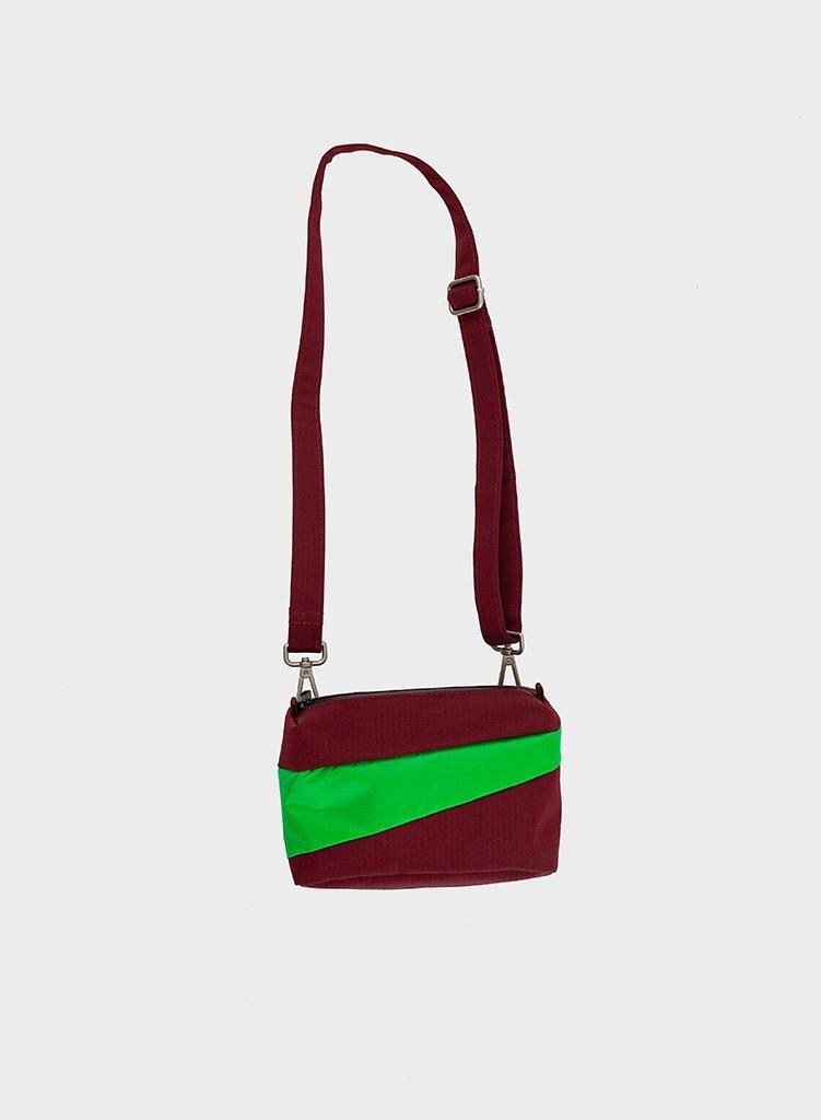 SUSAN BIJL Bum Bag Burgundy & Greenscreen