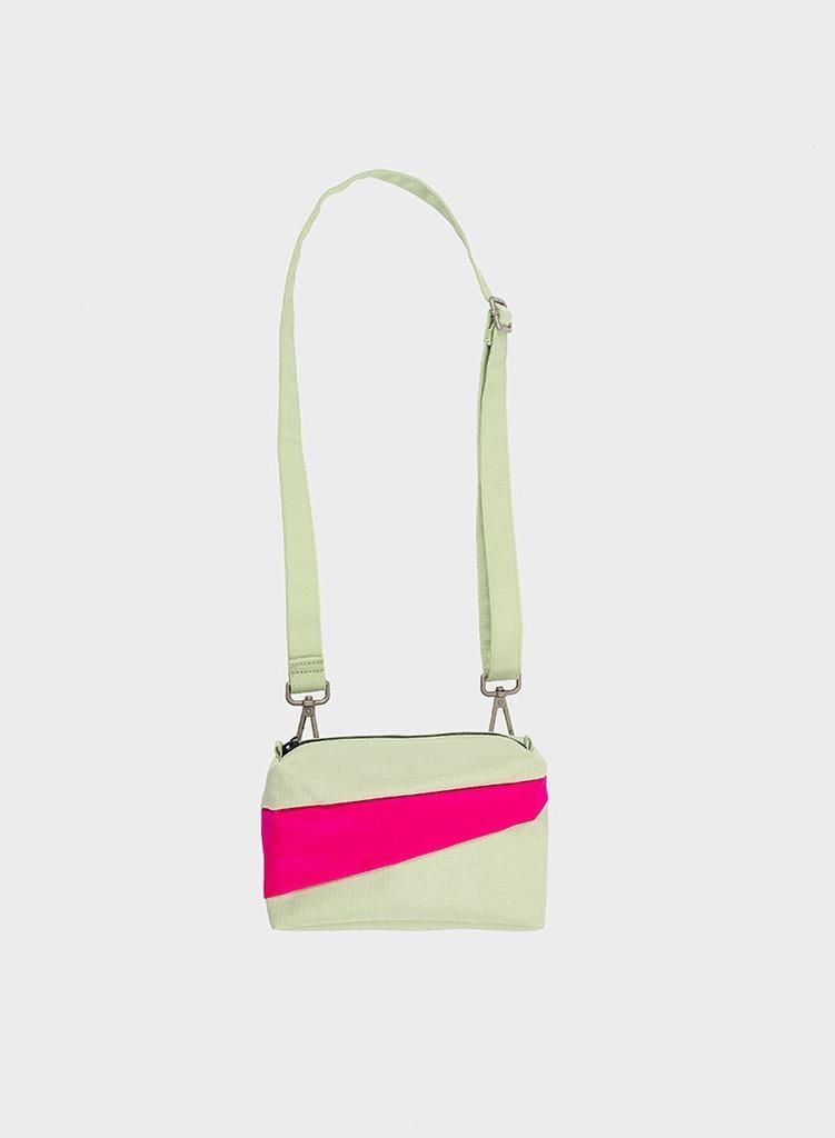 SUSAN BIJL Bum Bag Pistachio & Pretty Pink