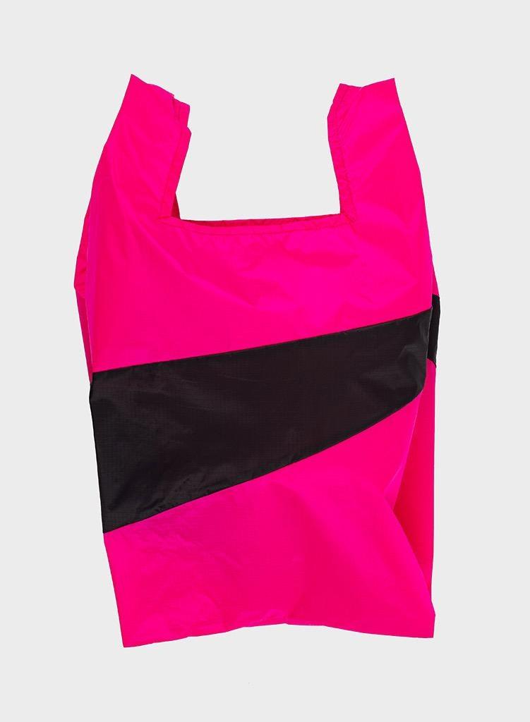 SUSAN BIJL Shopping Bag Pretty Pink & Black