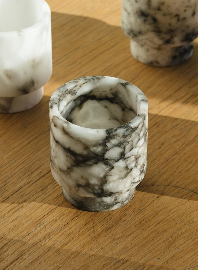 Michaël Verheyden Grey Alabaster Tlight Holder S (Michaël Verheyden)