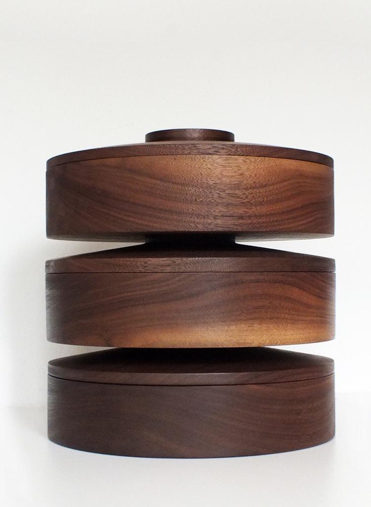 SUSAN BIJL Repeat Cookie Jar - Walnut (Klaster x Doornbos)