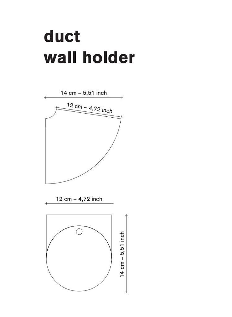 Destroyers Builders Duct Wall Holder, Porcelain & Cobalt Blue (Destroyers Builders)
