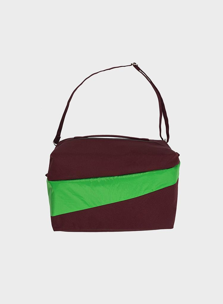 SUSAN BIJL 24/7 Bag, Burgundy & Greenscreen