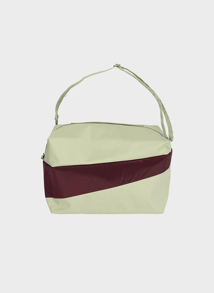 SUSAN BIJL 24/7 Bag, Pistachio & Burgundy