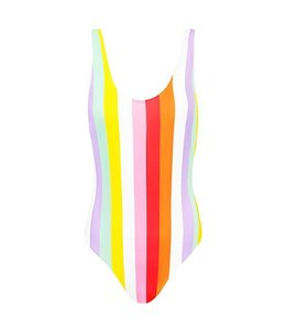 COLOR STRIPE SWIMSUIT LILA