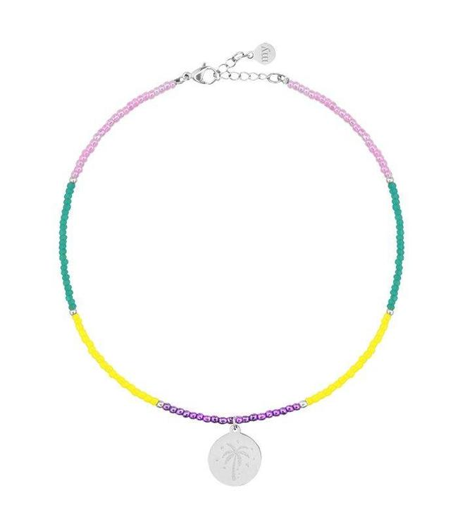 BEADS & COIN ANKLET PALMTREE