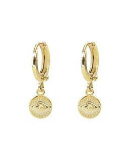 MY JEWELLERY EARRING ROUND EYE GOLD