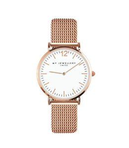 MY JEWELLERY MEDIUM MESH WATCH WHITE/ROSE